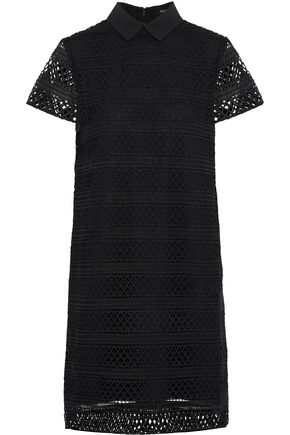 RAOUL Guipure lace shirt dress