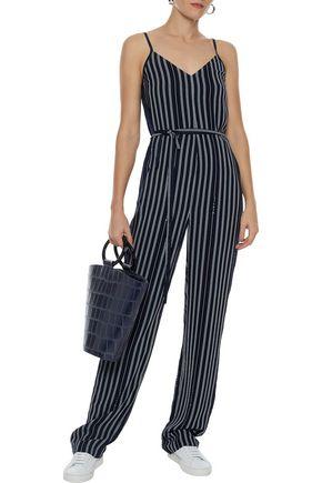 RAG & BONE Rosa tie-front striped crepe jumpsuit