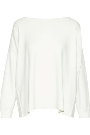 ALICE + OLIVIA Olivia tie-back stretch-knit top