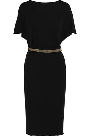 LANVIN Belted crepe dress