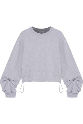 3.1 PHILLIP LIM Ring-detailed French cotton-terry sweatshirt
