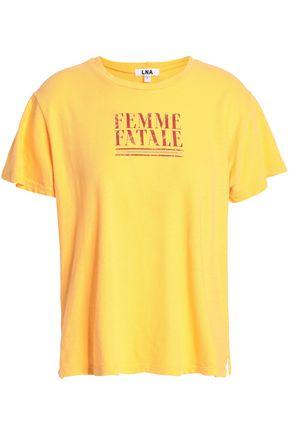 LNA Printed cotton-jersey T-shirt