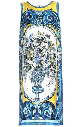 DOLCE & GABBANA Printed silk-twill dress