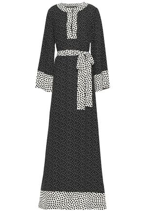 DOLCE & GABBANA Belted polka-dot silk maxi dress