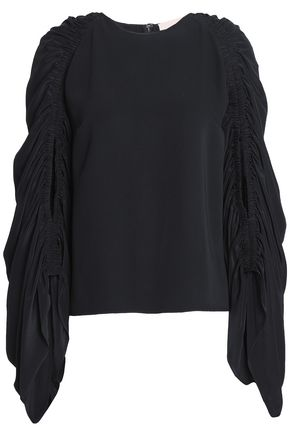 ROKSANDA Ruched silk blouse