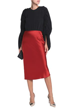 ROKSANDA Ruched silk blouse