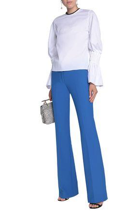 ROKSANDA Shirred cotton-poplin blouse