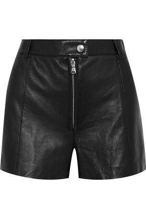 3.1 PHILLIP LIM Zip-detailed leather shorts
