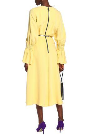 ROKSANDA Shirred silk midi dress