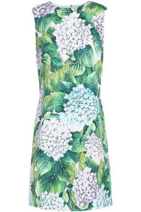 DOLCE & GABBANA Cotton-blend jacquard mini dress