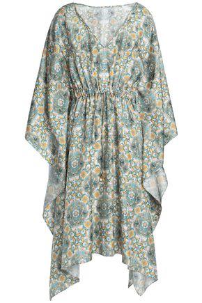 DOLCE & GABBANA Gathered printed silk-twill dress