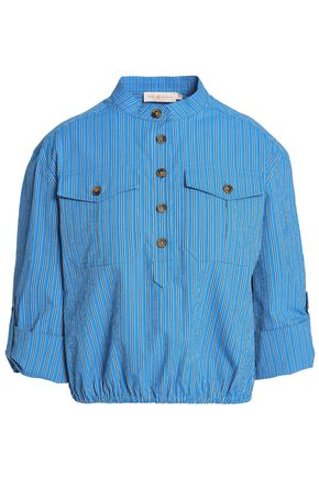 TORY BURCH Striped cotton-blend shirt
