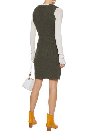 3.1 PHILLIP LIM Twist-front ribbed wool mini dress