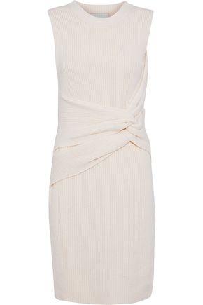 3.1 PHILLIP LIM Twist-front ribbed wool mini dress
