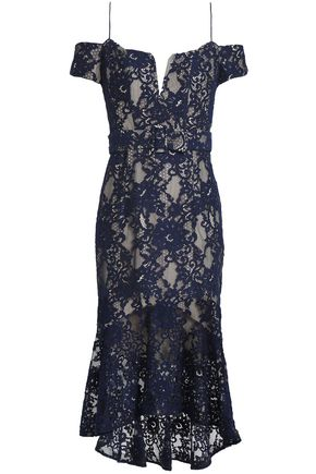 NICHOLAS Corded lace midi dress