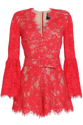 NICHOLAS Rubie corded lace playsuit