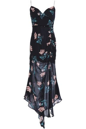 NICHOLAS Floral-print silk-georgette midi dress