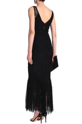 DE LA VALI Lace slip dress