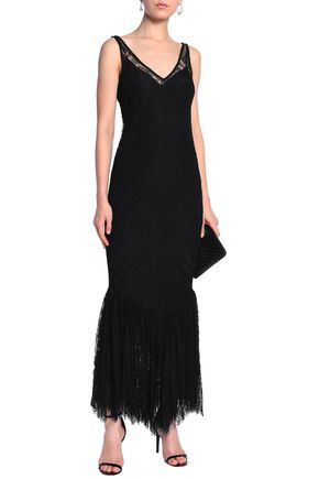 DE LA VALI Lace slip dress
