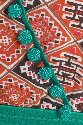 TALITHA Wrap-effect printed silk  crepe de chine dress