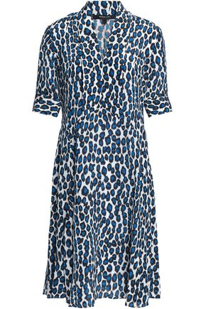 DEREK LAM Printed silk crepe de chine dress