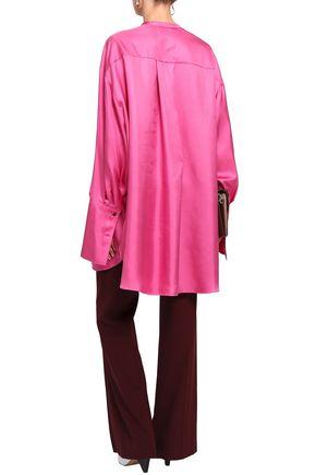 ROKSANDA Ruffle-trimmed silk-satin twill tunic