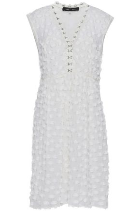 PROENZA SCHOULER Fil coupé cotton and silk-blend dress