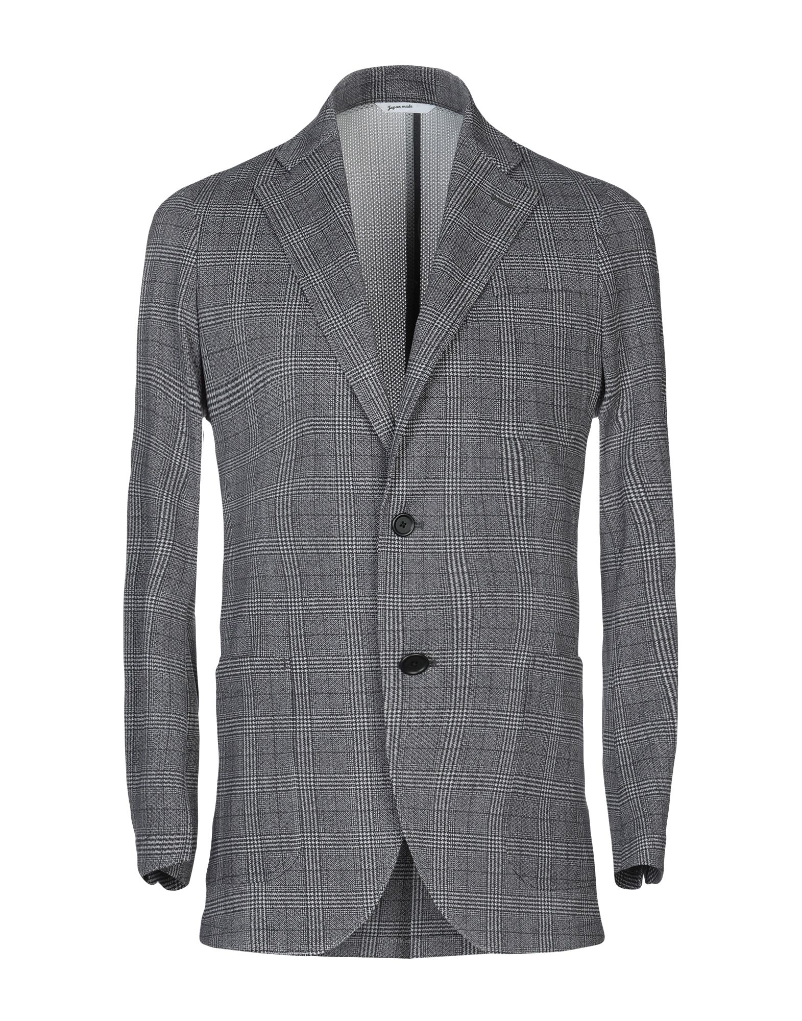 《セール開催中》HYBRID SENSOR? by FLEXJAPAN メンズ テーラードジャケット グレー 48 ポリエステル 100%