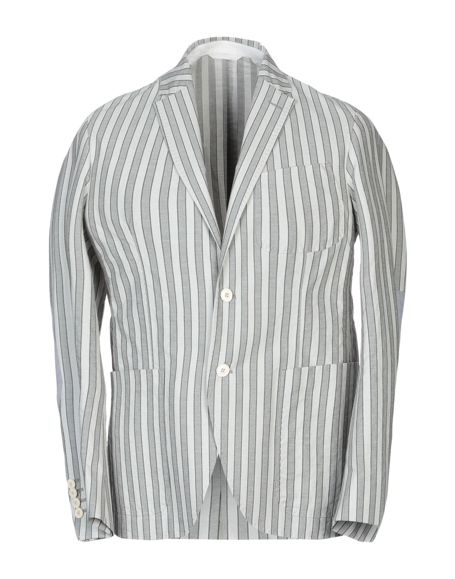 《セール開催中》CC COLLECTION CORNELIANI メンズ テーラードジャケット グレー 50 コットン 81% / シルク 19%