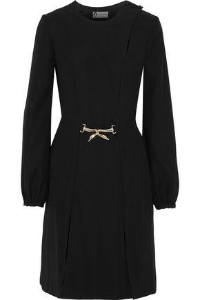 LANVIN Embellished split-front crepe dress