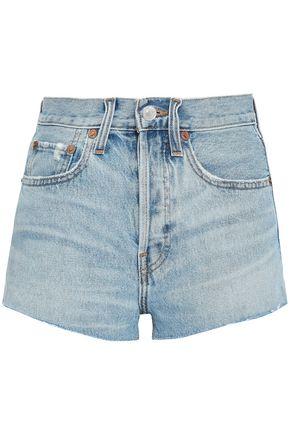 RE/DONE Distressed denim shorts
