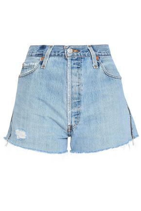 RE/DONE with LEVI'S Frayed denim shorts