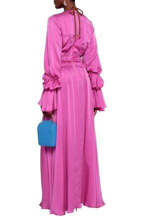ROKSANDA Ansari ruched silk-satin maxi dress