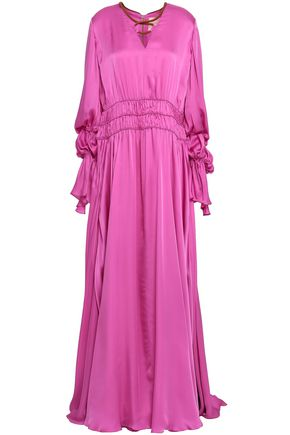 ROKSANDA Ansari ruched silk-satin maxi dress