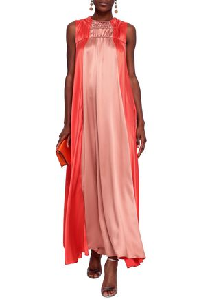 ROKSANDA Aerin two-tone satin-crepe maxi dress