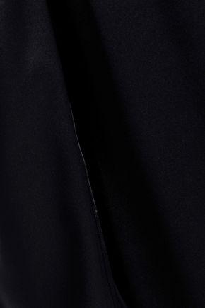 MICHAEL LO SORDO Cold-shoulder silk-satin dress