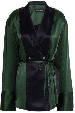 MICHAEL LO SORDO Silk-satin blouse