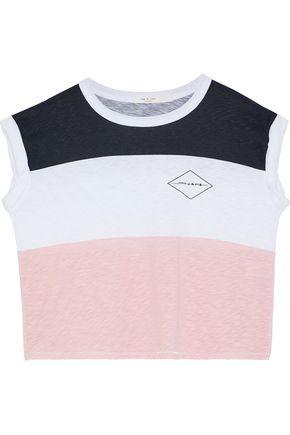 RAG & BONE Percy color-block printed Pima cotton top
