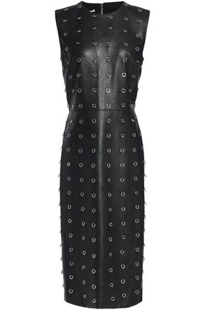 STELLA McCARTNEY Embellished faux leather midi dress