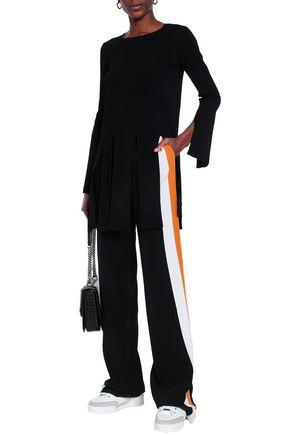 STELLA McCARTNEY Cutout ribbed stretch-knit top