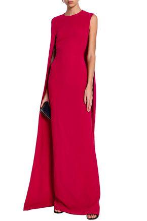 STELLA McCARTNEY Cape-effect stretch-crepe gown
