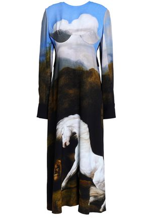 STELLA McCARTNEY Printed stretch-crepe midi dress