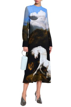 Stella Mccartney Printed Stretch Crepe Midi Dress