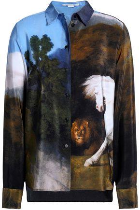 STELLA McCARTNEY Printed silk crepe de chine shirt