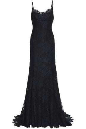 MONIQUE LHUILLIER Corded lace gown