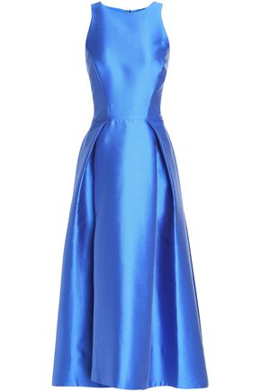 MONIQUE LHUILLIER Satin midi dress