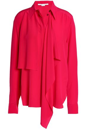 STELLA McCARTNEY Draped crepe de chine blouse