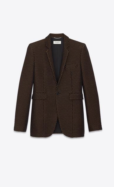 Velvet polka-dot jacquard jacket