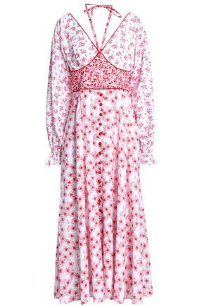 GÜL HÜRGEL Floral-print cotton-gauze midi dress