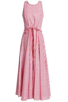 GÜL HÜRGEL Striped cotton and linen-blend maxi dress
